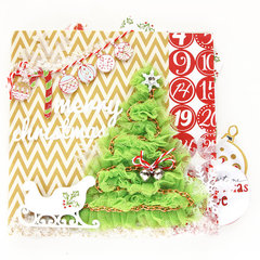 Christmas pop up scrapbook