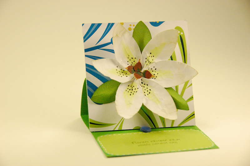 3D Asiatic Lily Easel Card