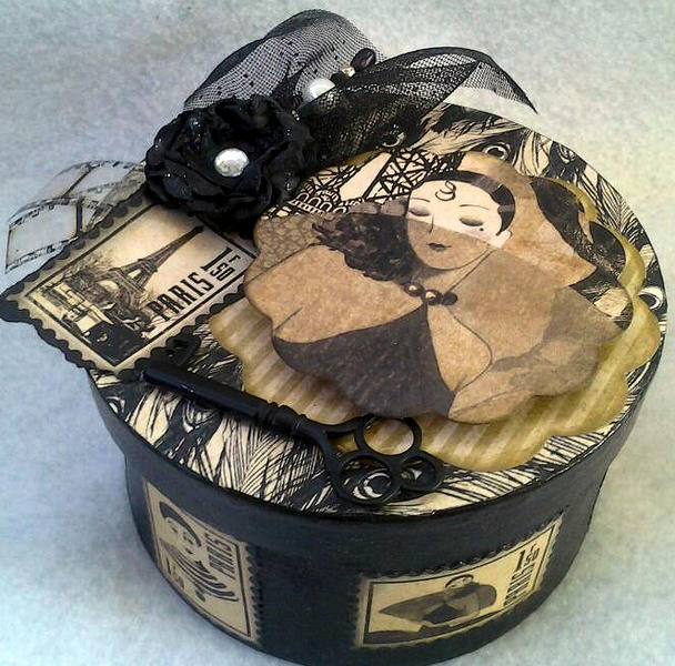 Altered Box using Graphic 45 Papers