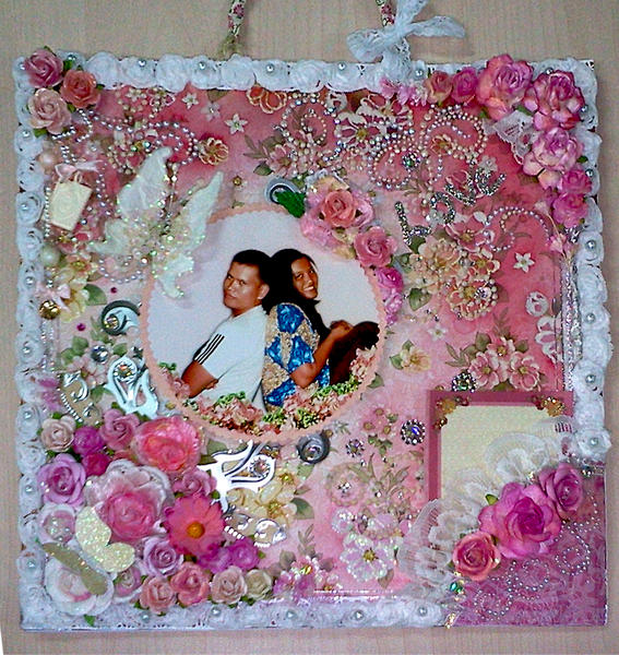 Romantic Flowers Photo Frame