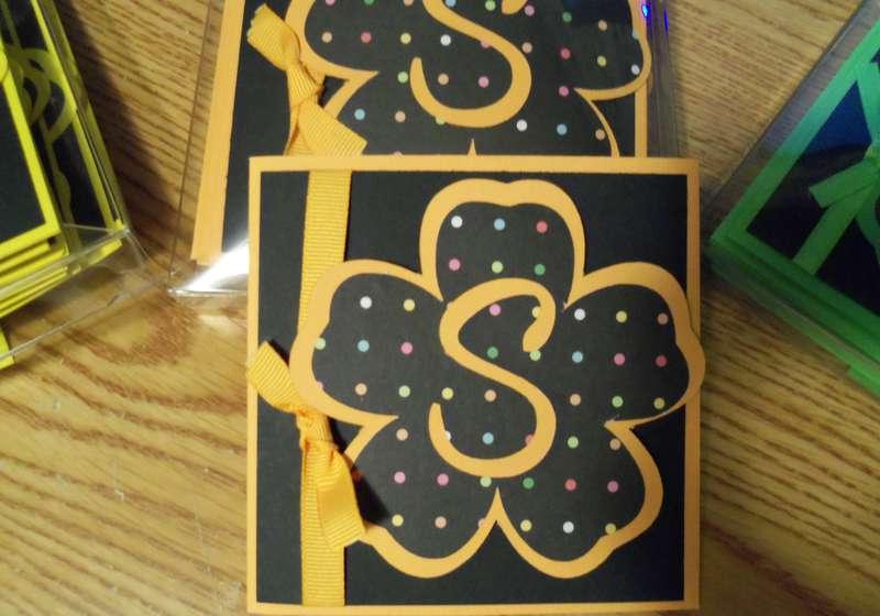 Close up of Monogram card for Teacher Appreciation Day