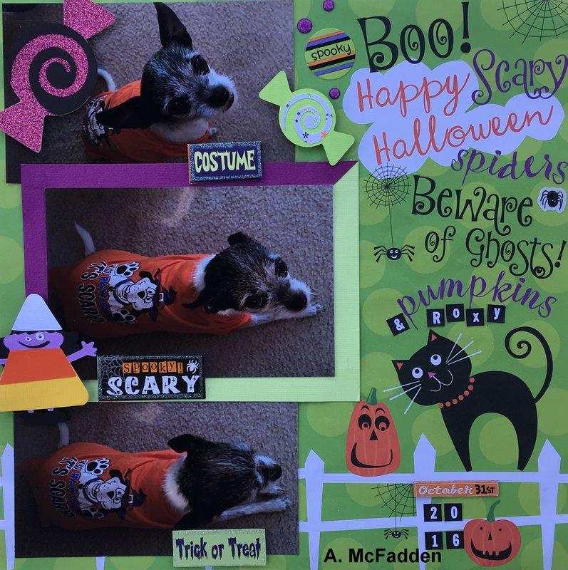 Beware of Ghosts, Pumpkins, & Roxy
