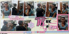 Sweet Sixteen MAC makeup Glam Session