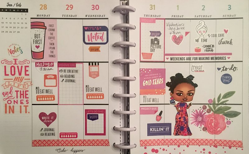 Planner layout 28 January-3 February 2019