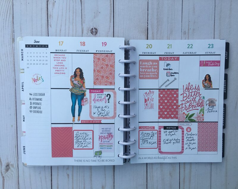Planner Spread 17 June 2019-22 June 2019