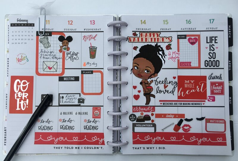 Planner layout 11 February-17 February 2019
