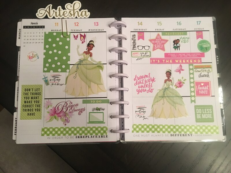 Planner spread 11 March-17 March 2019