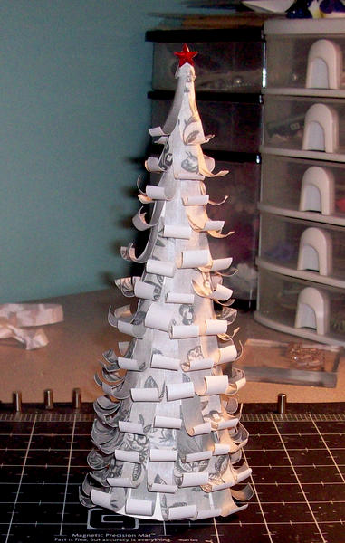 Paper Silver Christmas Tree