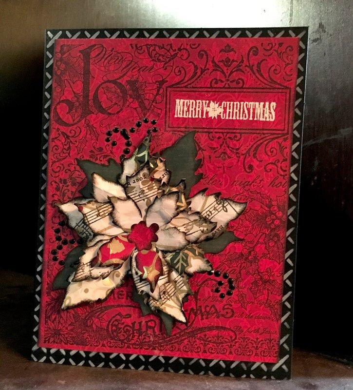 Joy, Merry Christmas Poinsettia Card