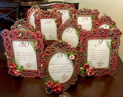 Jessica's Wedding Table Numbers