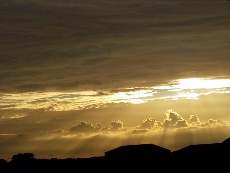 Backlit Sunset in Howe, Indiana