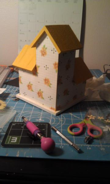 Spring altered birdhouse