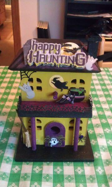 Halloween altered birdhouse