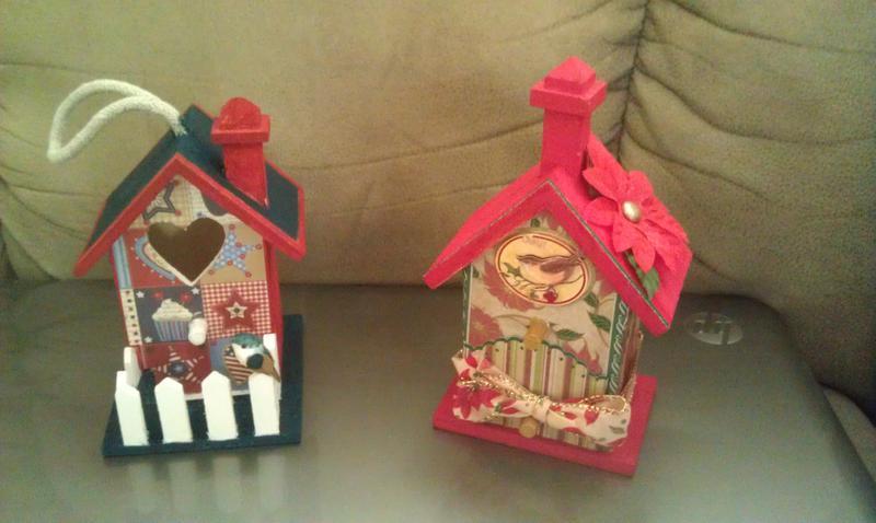 altered bird house mini