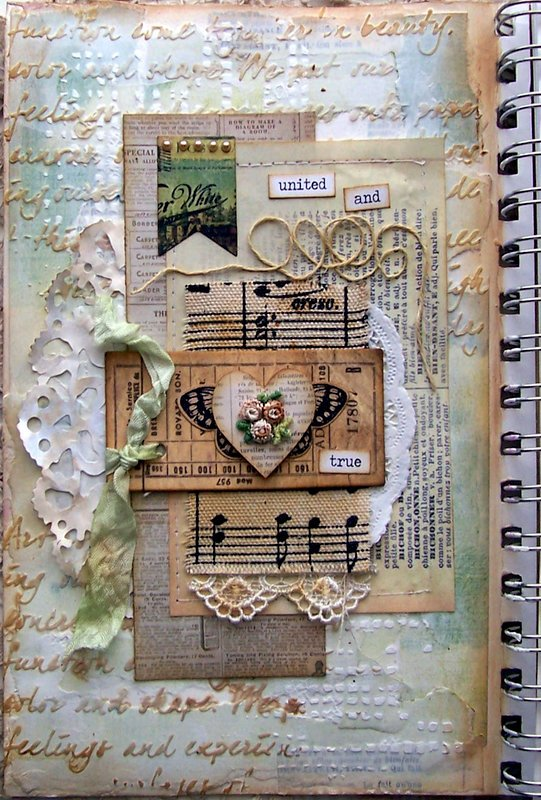 United and True Art Journal Page