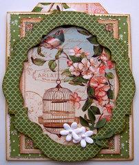 Secret Garden Thank You Pocket Card w/tag #3