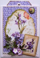 Secret Garden Thank You Pocket Card w/tag #6