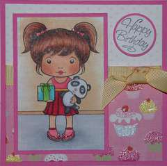 Marci with Gift & Panda by Jennie Lin Eger-Black