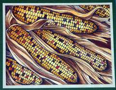 Corn Card by Jennie Lin Black