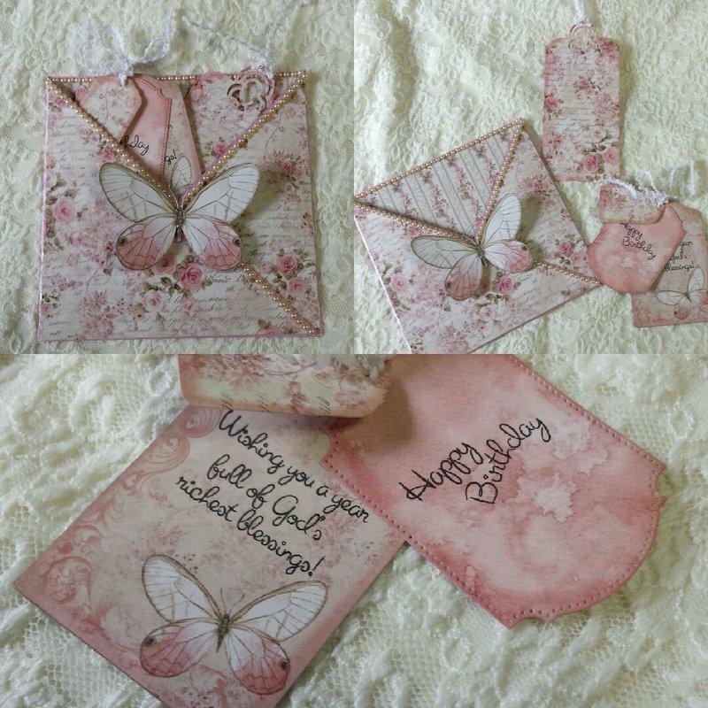 Shabby Rose Pocket Card