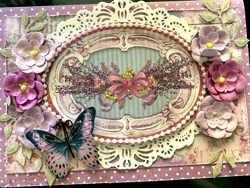 Stamperia Provence Birthday Card