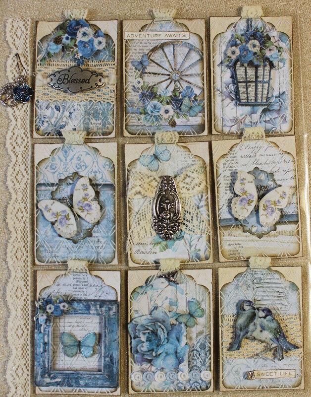 Stamperia Blue Land Pocket Letter (for Laura)