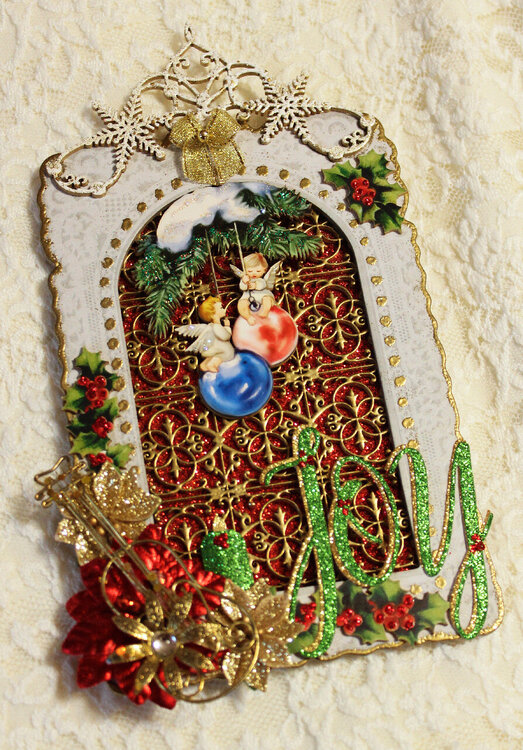 Stained Glass Window Christmas Tag - November Tag Swap (for Carri)