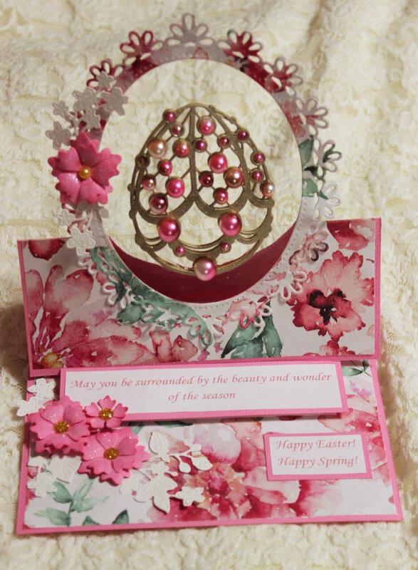 Floating Faberge Egg Easel Card