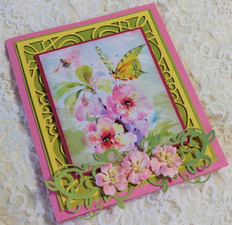 Spring Blooms Easter Card