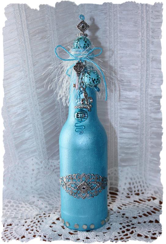 Aqua Pearl Altered Bottle