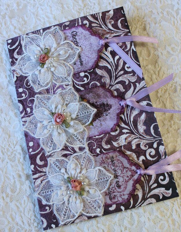 Purple Elegance Birthday Card