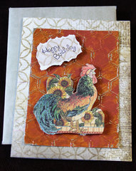 Rooster Birthday Card