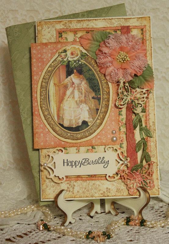 G45's Portrait of a Lady Birthday Card
