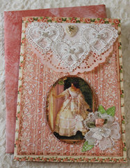 Victorian Beauty Birthday Card
