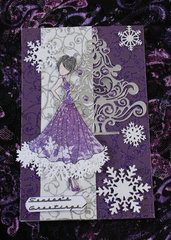 Purple Pleasure Christmas Card