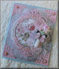 Pink Elegance Birthday Card