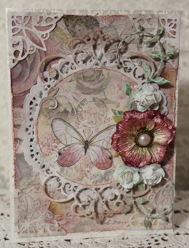 Shabby Rose Birthday Card