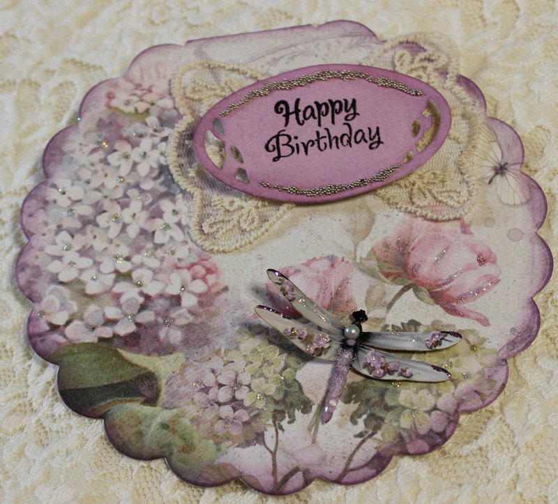 Lilac Flowers Birthday Card