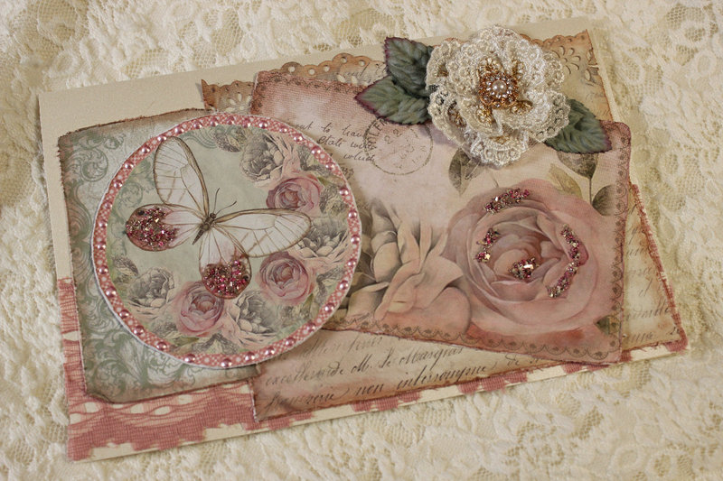 Shabby Rose Get Well Card