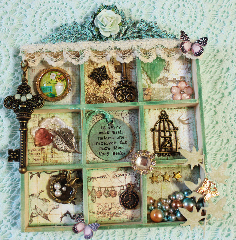 Altered Wooden Tray (for Jessica)