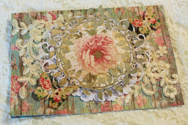 Roses and Lace Get Well Card
