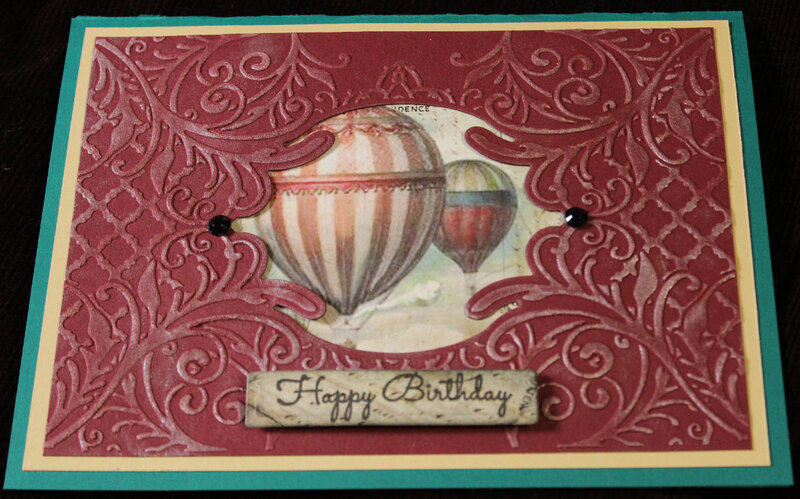 Up and Away Birthday Card