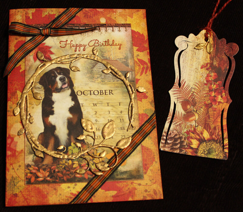 Lovely Autumn Birthday Card and Bookmark
