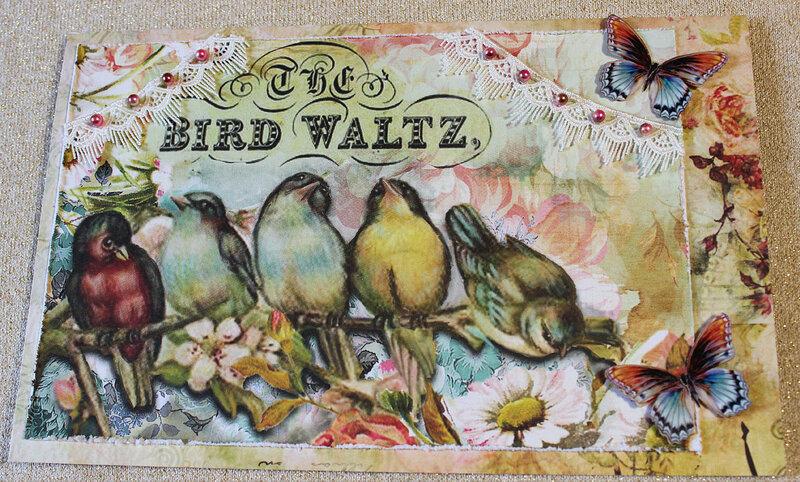 Bird Waltz Birthday Card
