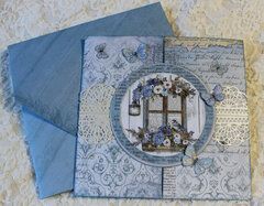 Blue Land Gatefold Birthday Card