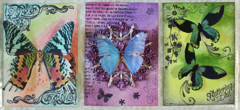 Butterflies in Flight - June Pocket Letter Swap