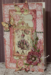 Victorian Velvet Birthday Card