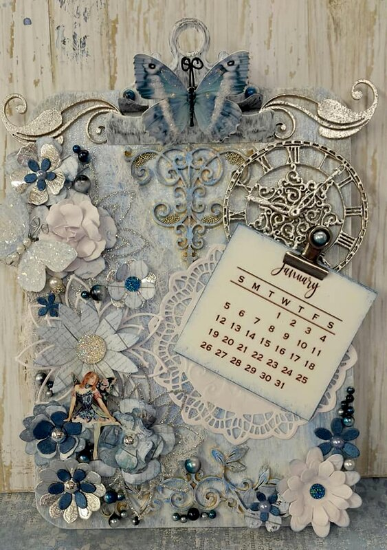 Altered Mini Clipboard for Reneabouquets Swap