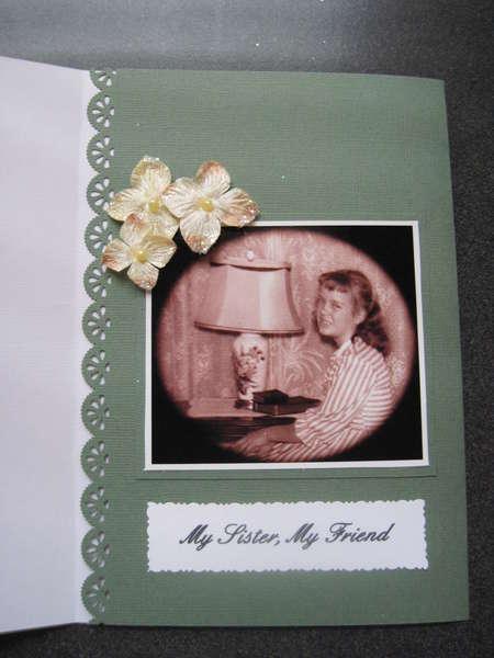 Inside sister birthday card