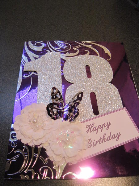 Granddaughters 18th birthday card